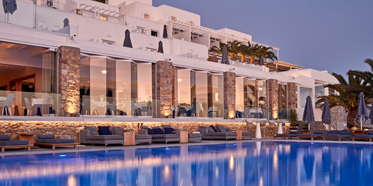 Outdoor Pool at Myconian Ambassador Hotel and Thalasso Spa , Mykonos, Greece