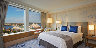 Grand Harbour Guest Room at Shangri-La Hotel Sydney, New South Wales, Australia