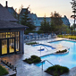 Outdoor Pool at Fairmont Le Manoir Richelieu, Charlevoix, PQ, Canada