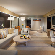 Family Garden Suite Living Room at Jumeirah Port Soller Hotel and Spa, Mallorca, Spain