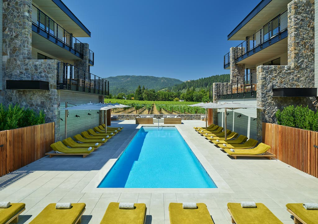 Outdoor Pool at Las Alcobas Napa Valley, St. Helena, CA