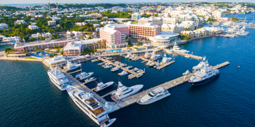 Aerial View of Fairmont Hamilton Princess, Hamilton, Bermuda