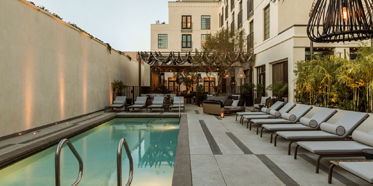 Outdoor Pool at Kimpton La Peer Hotel, West Hollywood, CA