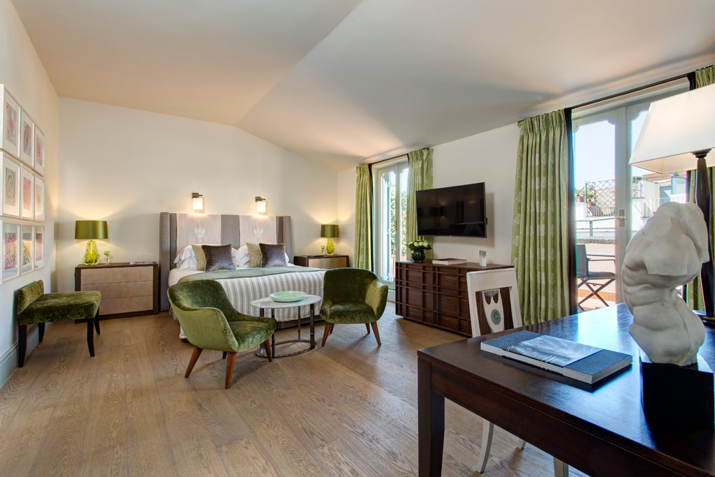 Junior Suite Interconnecting with Popolo Suite at Rocco Forte Hotel De Russie, Rome, Italy
