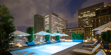 Outdoor Pool at Hotel Alessandra, Houston, TX
