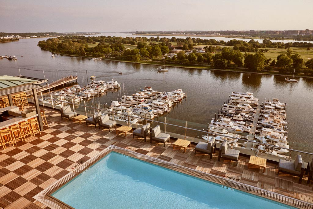 Outdoor Pool at InterContinental Washington D.C. The Wharf