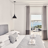 Double Sea View Guest Room at Mykonos Princess, Cyclades, Greece