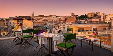 Rooftop Views at Singer Palace Hotel, Rome, Lazio, Italy