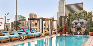 Outdoor Pool at NoMad Hotel Los Angeles, CA