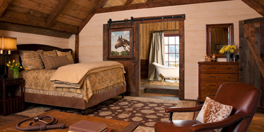Loft Guest Room at The Ranch at Rock Creek, Philipsburg, MT
