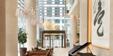 Lobby of Shangri-la Hotel Vancouver, Canada