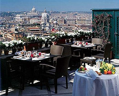 Hotel Hassler rooftop dining