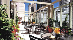 Outdoor Terrace at The Peninsula Chicago