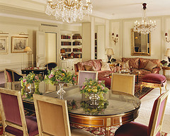Royal Suite at the Hotel Plaza Athenee