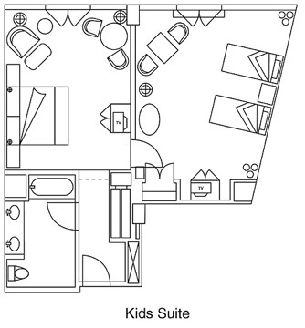 Loews Portofino Bay Kids Suite Layout
