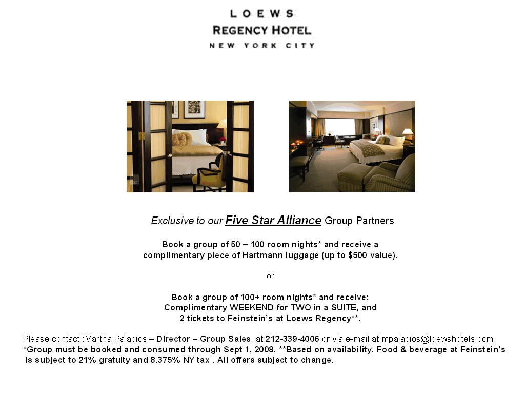 Regency Group Five Star Alliance