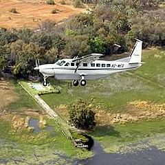 Orient Express African safari, light aircraft