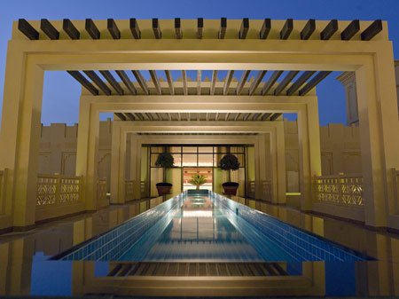 Spa entrance at Grand Hyatt Doha