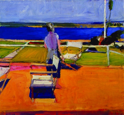 Richard Diebenkorn, Figure on a Porch, 1959