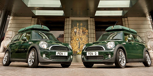 Mini Coopers at The Peninsula Hong Kong