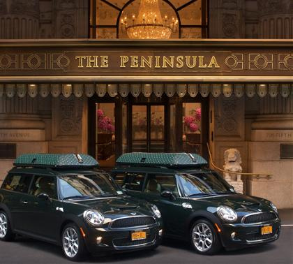 Peninsula Hotels' Mini Coopers