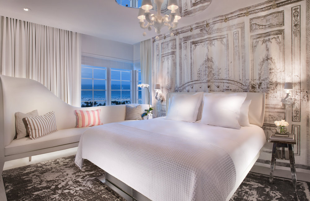 Guest room at the SLS South Beach