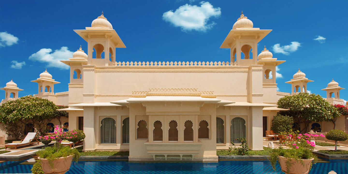 Exterior of the Kohinoor Suite at The Oberoi Udaivilas