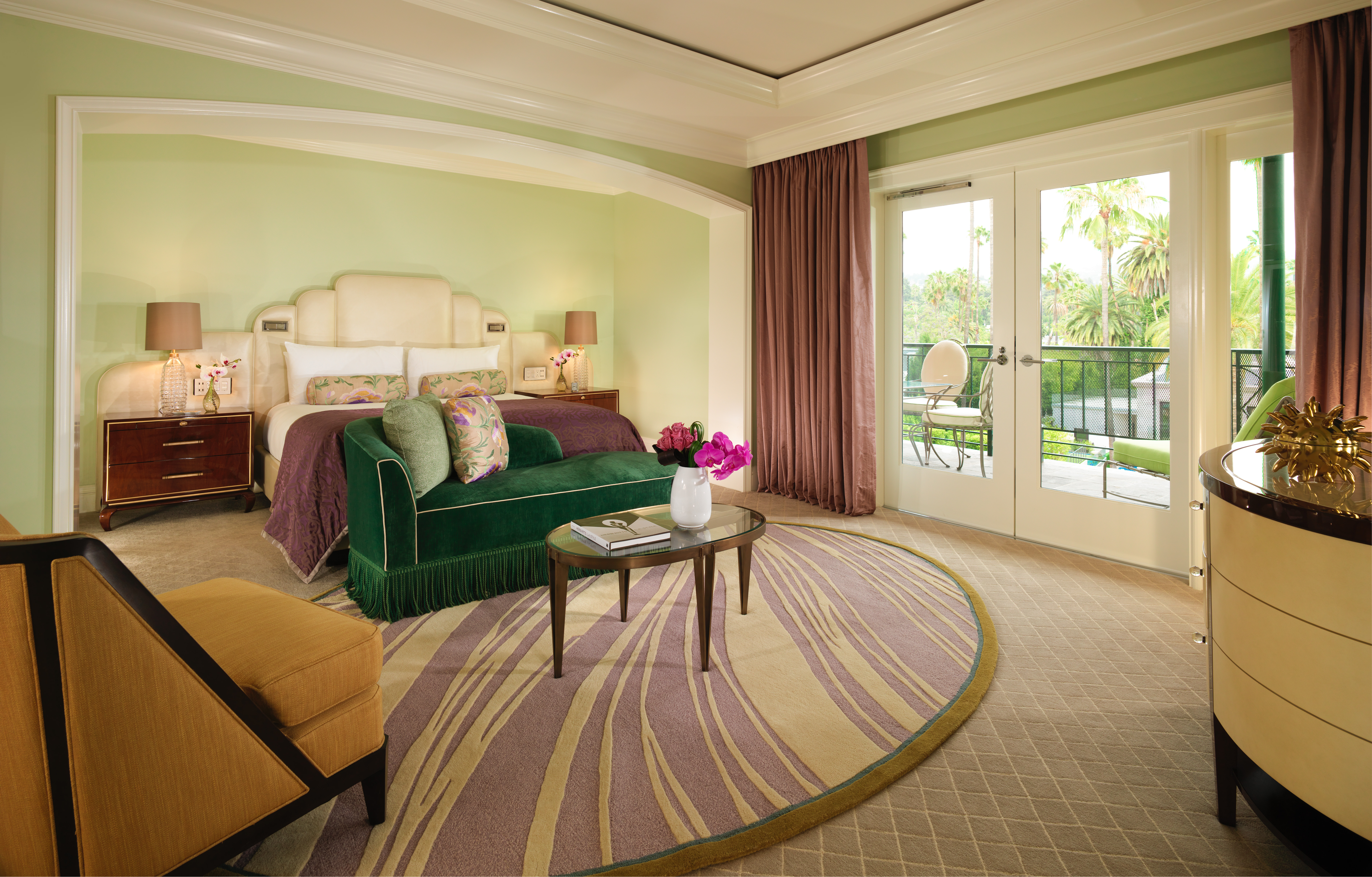 Presidential Suite Bedroom at the Beverly Hills Hotel