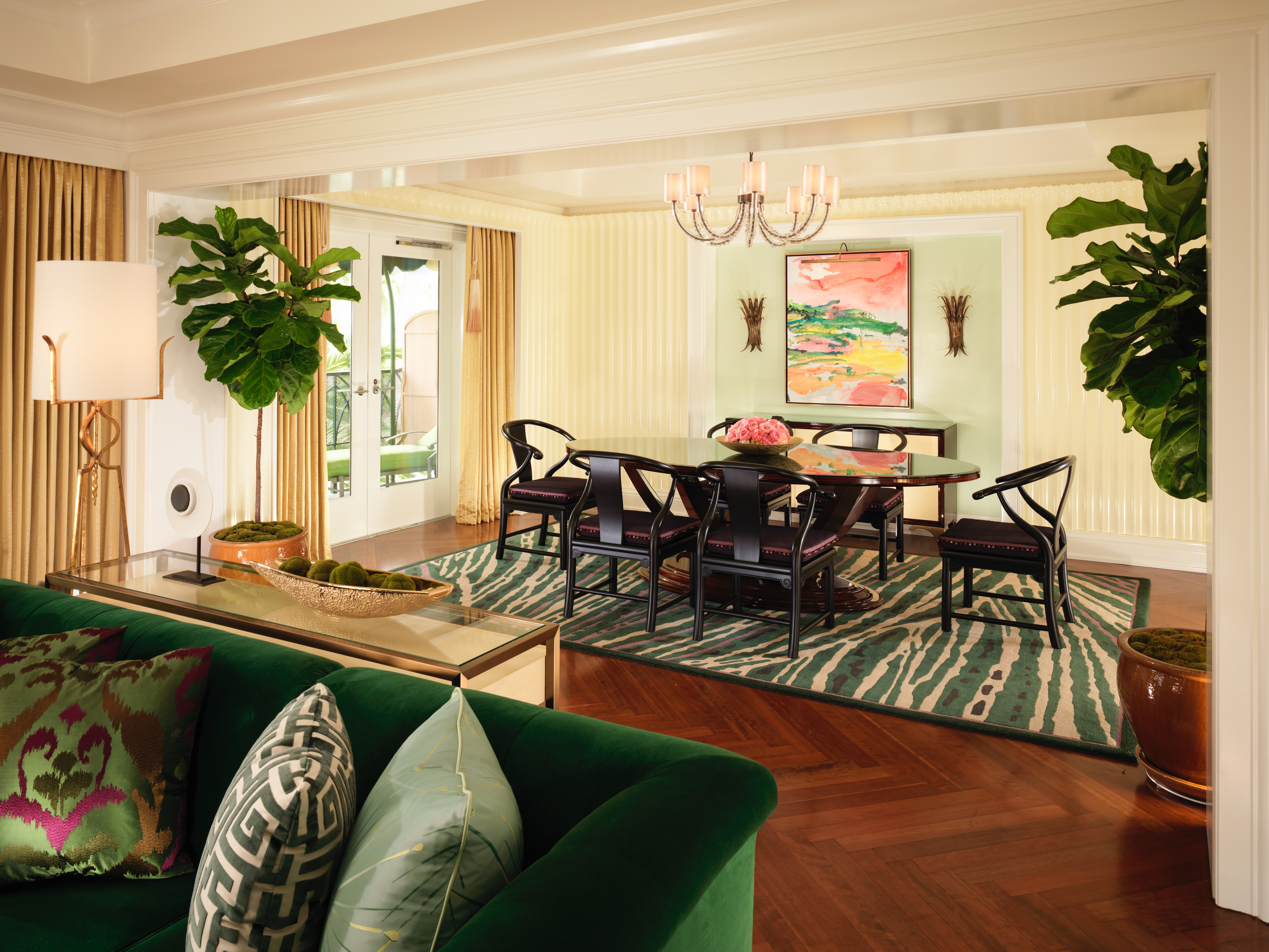 Presidential Suite Dining Room at The Beverly Hills Hotel