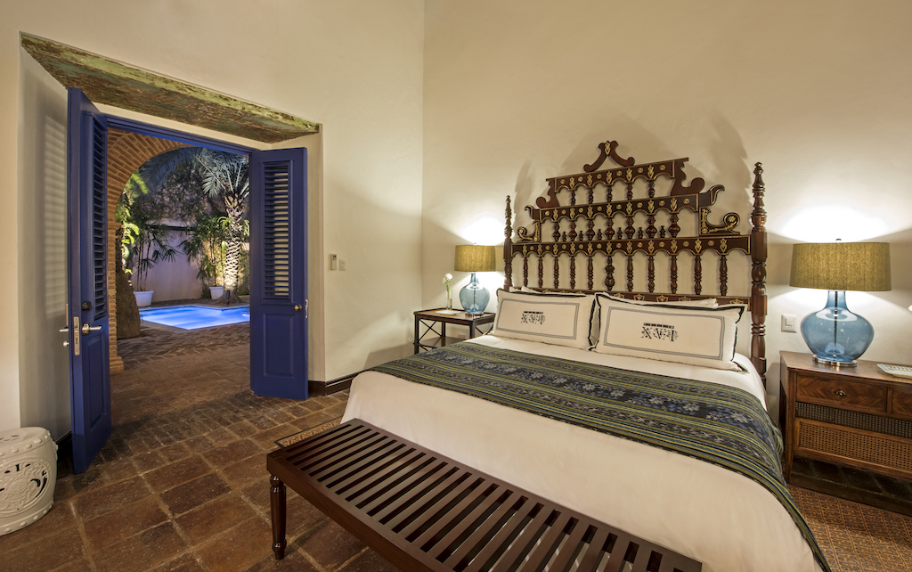 Master bedroom entrance in the Royal Suite at Casas XVI