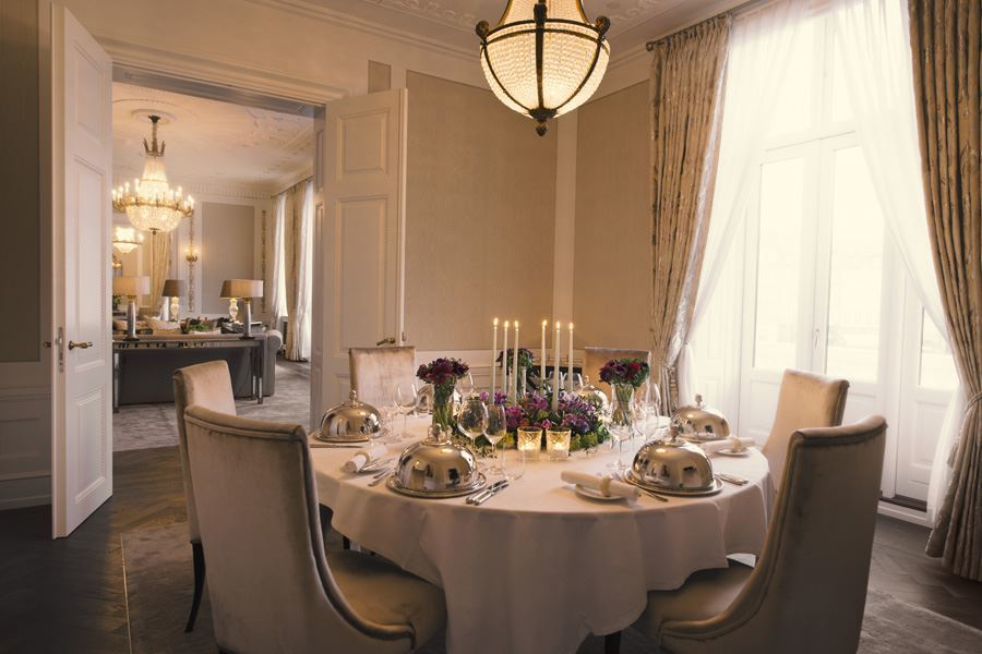 Royal Suite Dining Room at  Hotel D'Angleterre