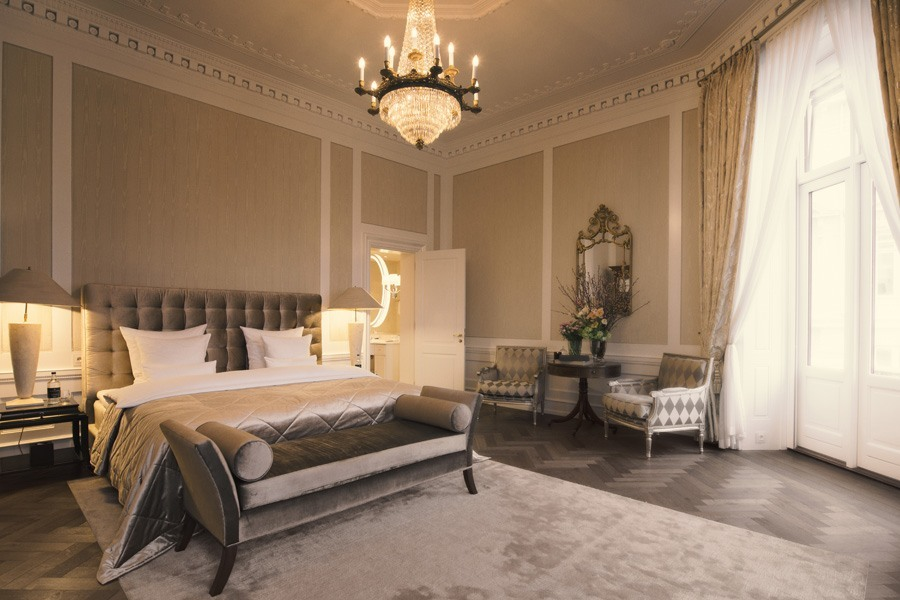Royal Suite Master Bedroom at the Hotel D'Angleterre