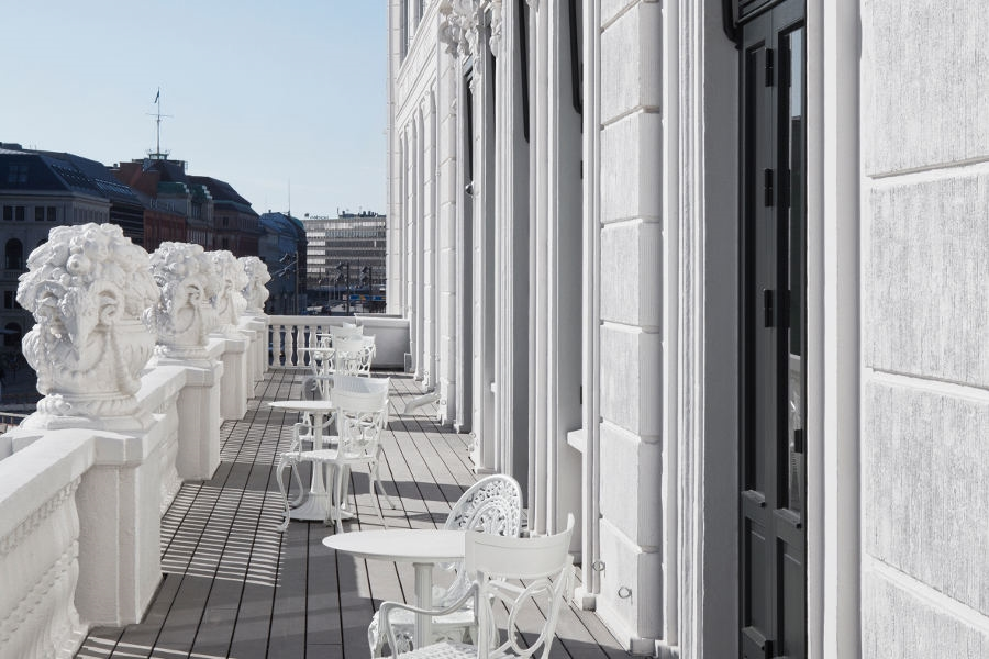 Royal Suite Balcony at Hotel D'Angleterre