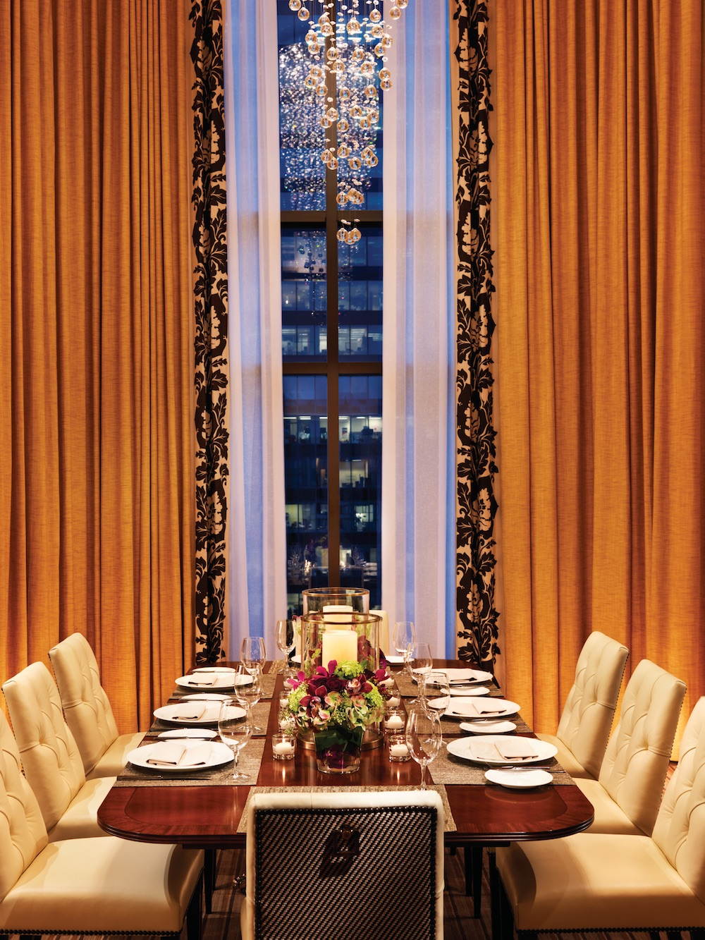 Dining Room of the Prime Minister Suite at the Four Seasons Vancouver