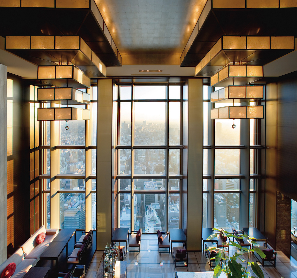 The Lobby of the Mandarin Oriental Tokyo