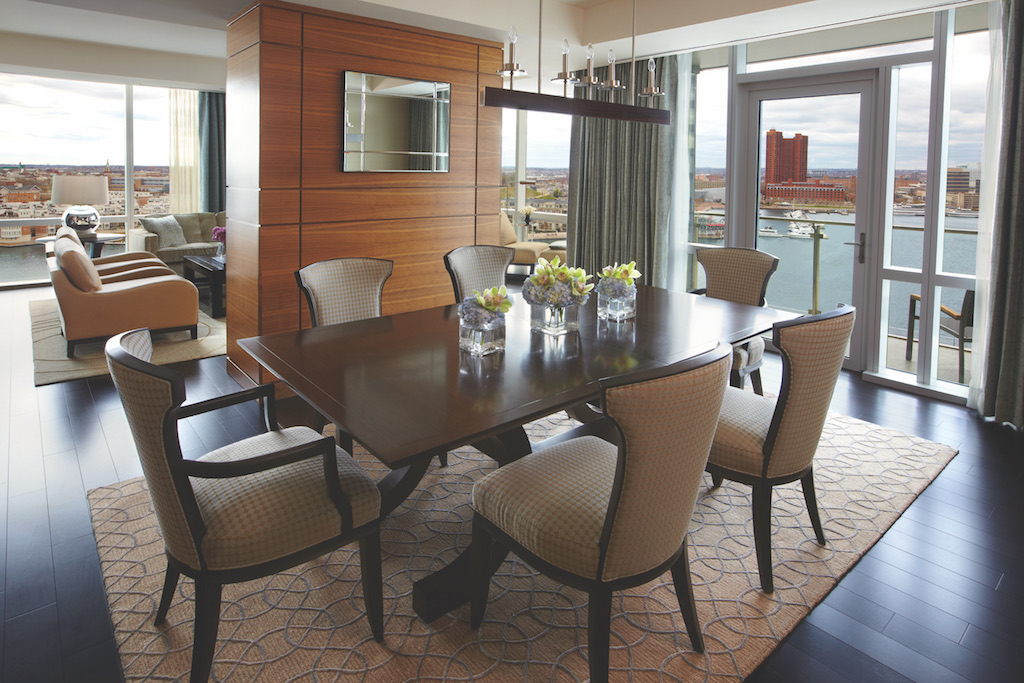 Admiral Suite Dining Room at the Four Seasons Baltimore