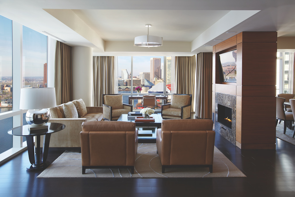 The Admiral Suite Living Room at the Four Seasons Baltimore