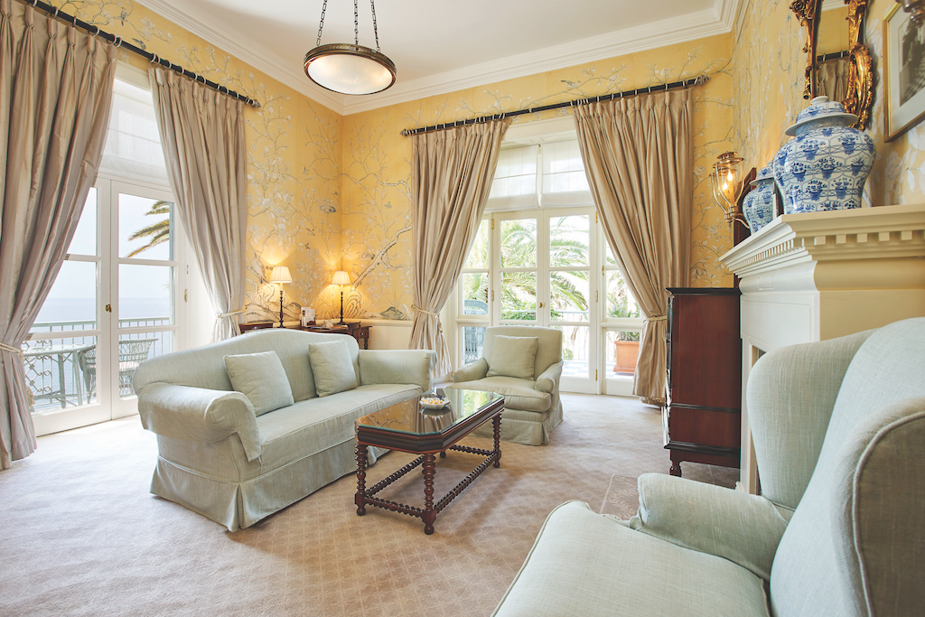 Presidential Suite Living Room at Belmond Reid's Palace