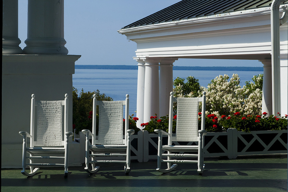 The front porch of the Grand Hotel Mackinac Island