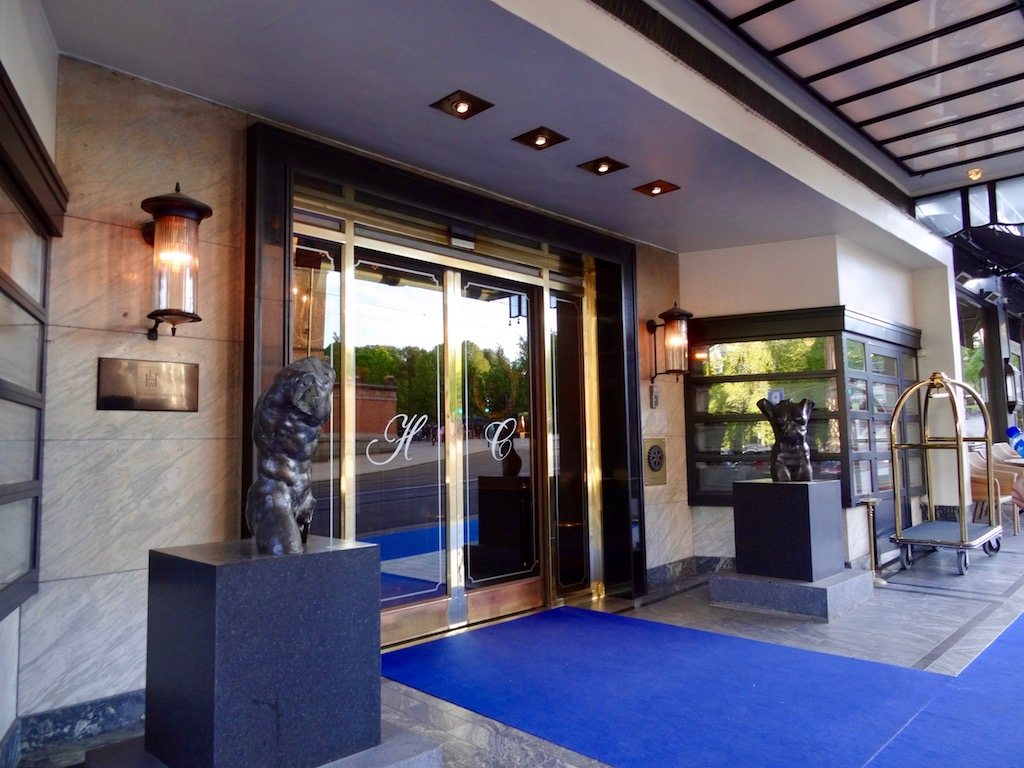 Entrance of the Hotel Continental Oslo
