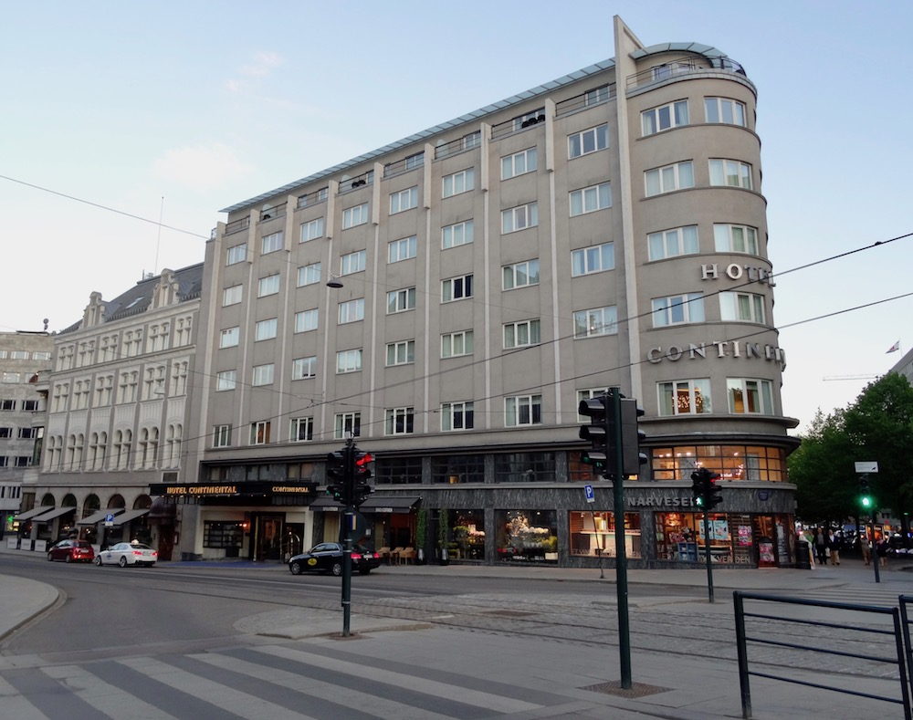 Exterior view of the Hotel Continental Oslo