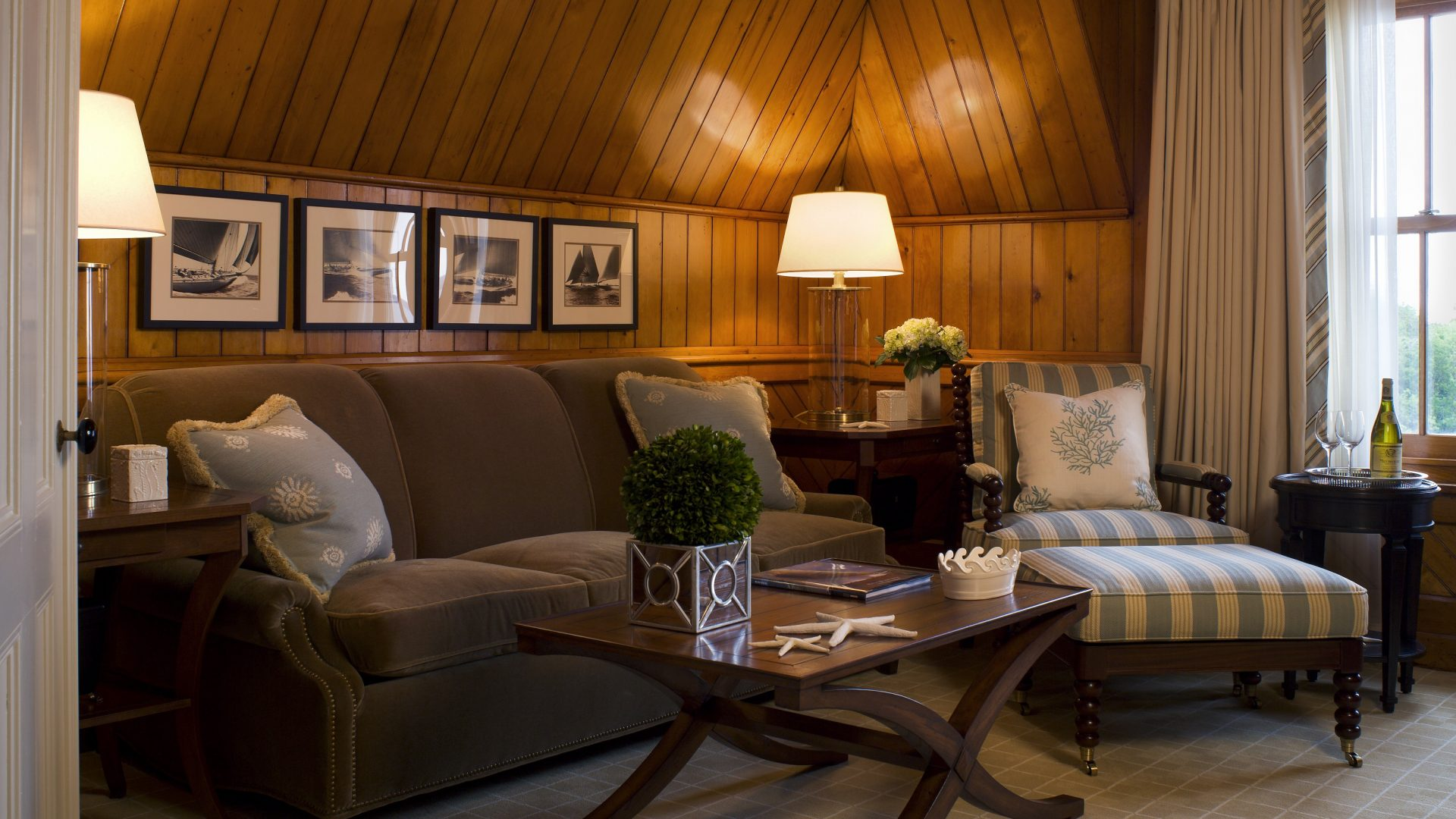 The Lighthouse Suite Living Room At Castle Hill Inn And Resort
