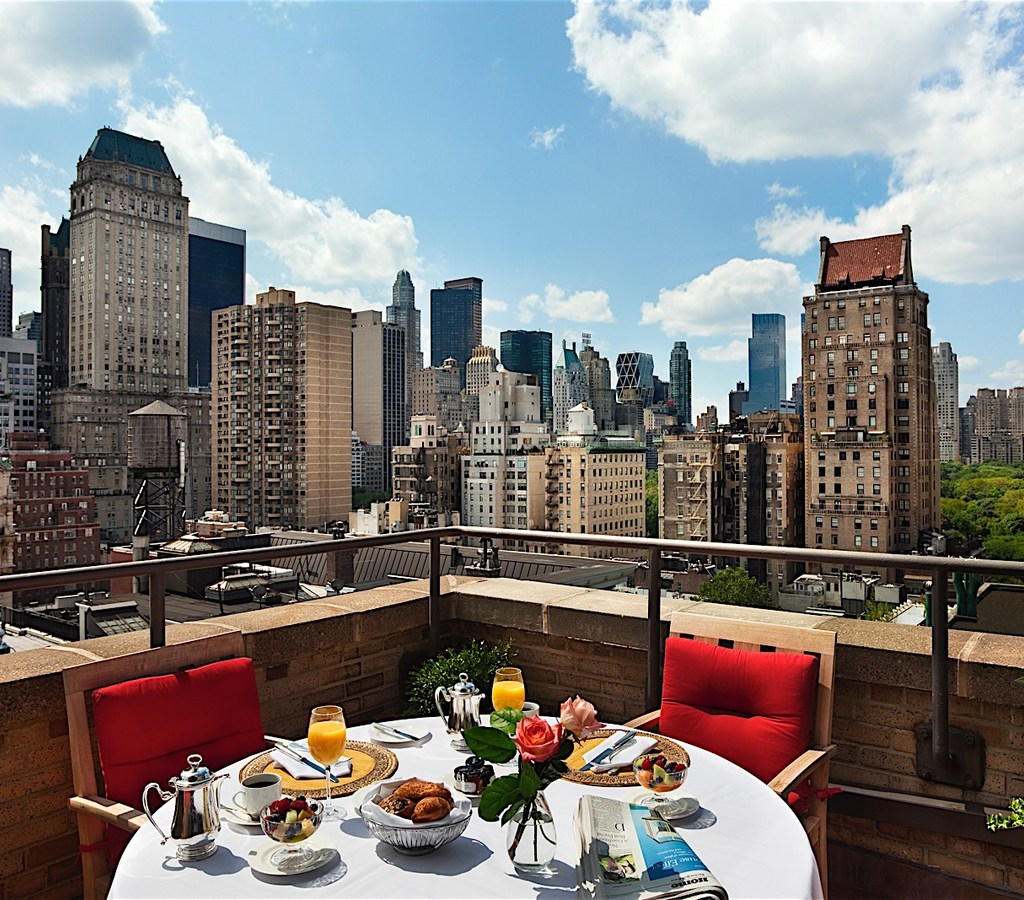 Penthouse Balcony Breakfast at Hotel Plaza Athenee New York