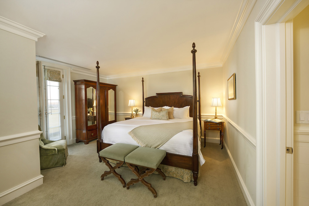 Master Suite Bedroom at Keswick Hall at Monticello