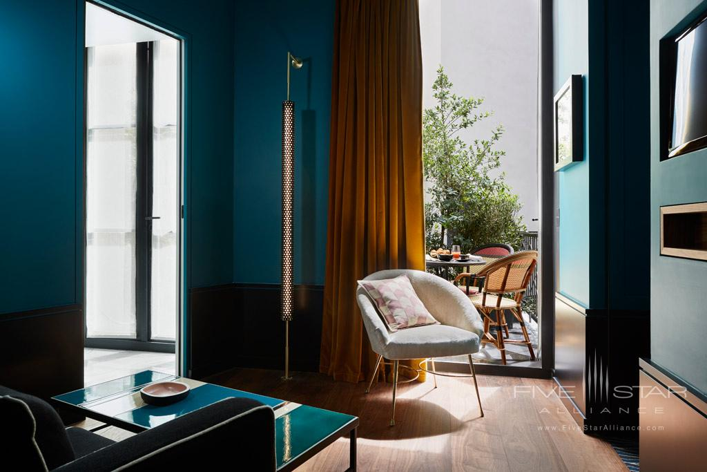 Indulgence Terrace Suite Living at Le Roch Hotel & Spa, Paris, France