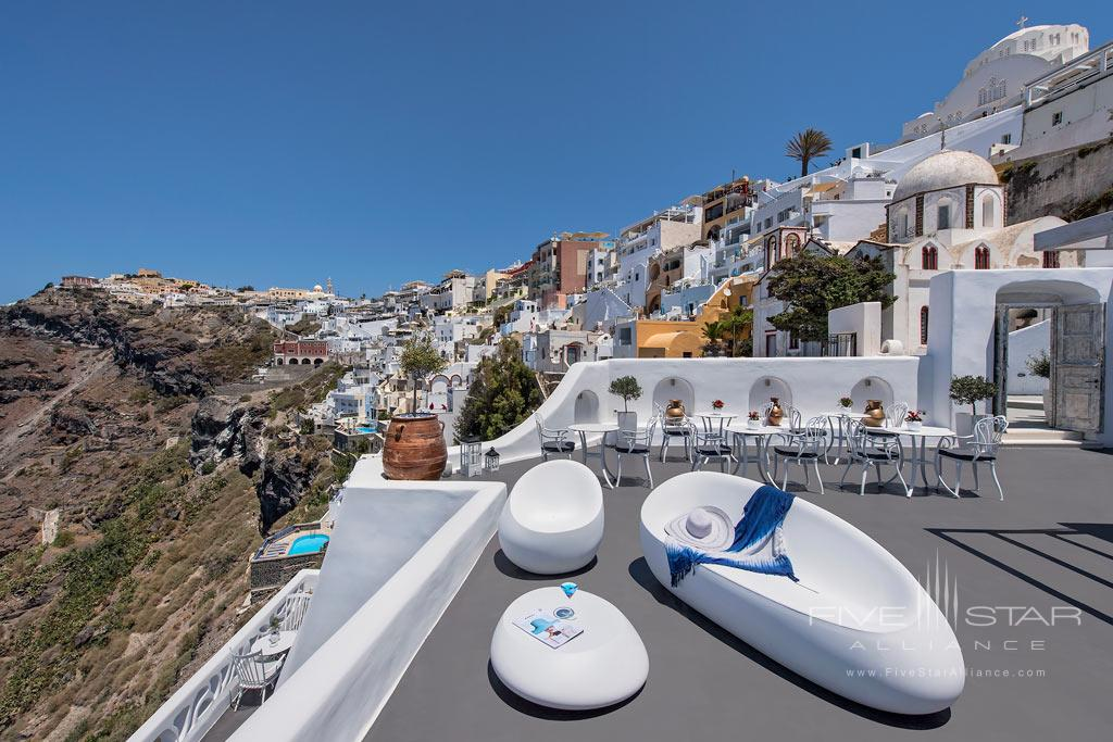 Terrace Lounge at Athina Luxury Suites, Greece