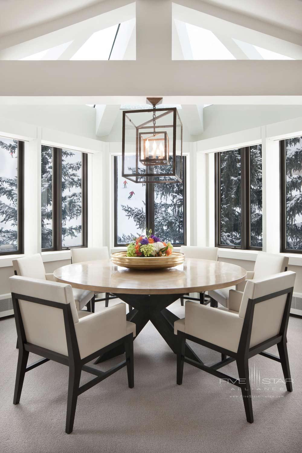 Little Nell Suite Dining at The Little Nell, Aspen, CO