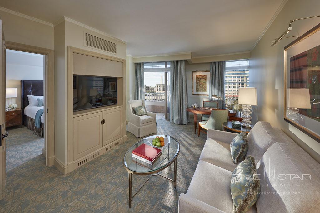Executive City View Suite Living Room at Mandarin Oriental Washington, DC, United States