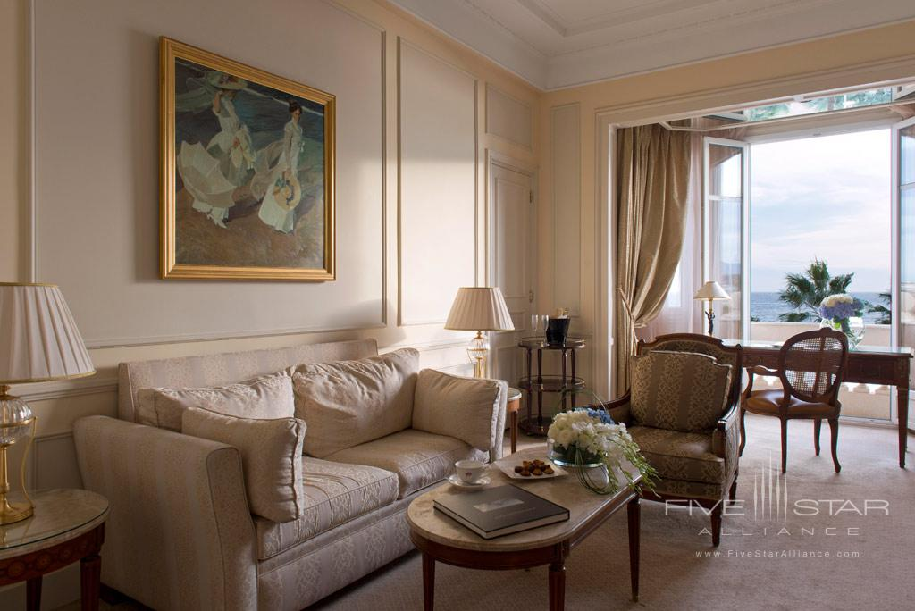 One Bedroom Suite Lounge at InterContinental Carlton Cannes, Cannes, France