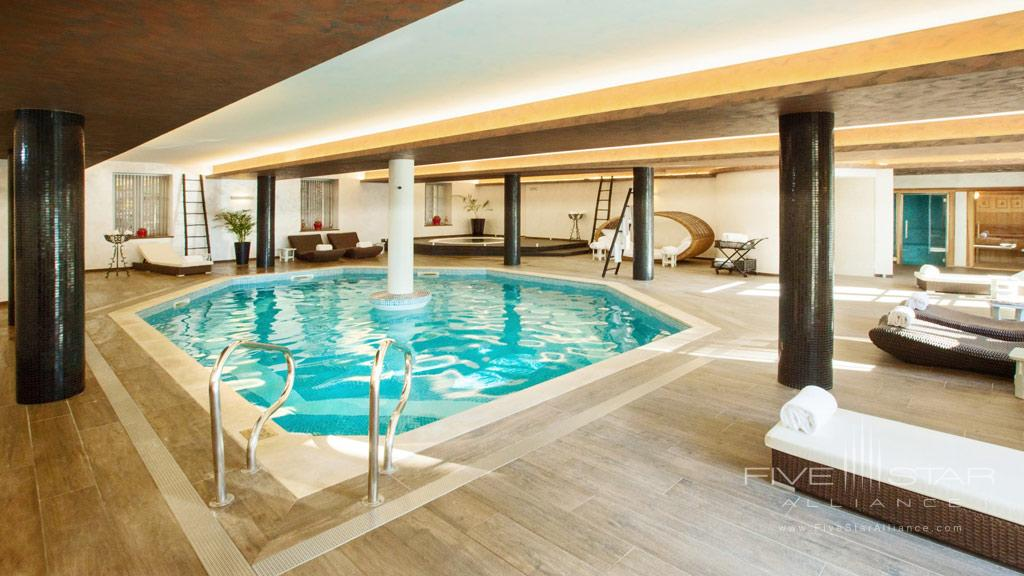 Indoor Pool at Chateau de Mirambeau, France